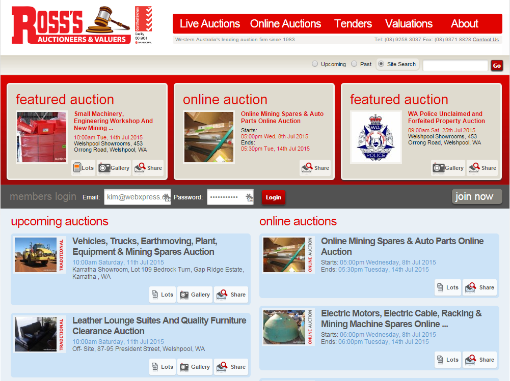 Ross's Auctions & Valuers